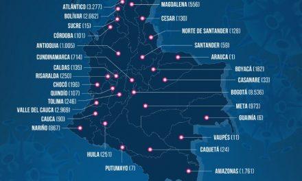 Disparada la cifra de contagios en Colombia, 1.268 en un día