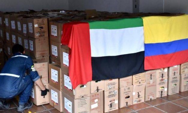 Emiratos Árabes Unidos ayuda a Colombia en lucha contra COVID-19 con donación de 10 toneladas de insumos médicos
