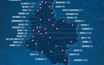 La más alta cifra de contagios en el último día en Colombia