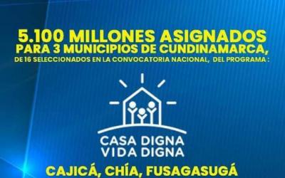 Más de $5.000 millones para vivienda digna en Cundinamarca