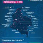 Disminuyen contagios en Colombia: 4.586 y 194 fallecidos
