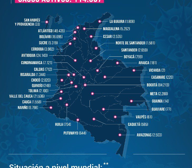 COVID-19 no le da respiro a Colombia: 256 muertos y 8.181 nuevos contagios este domingo