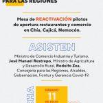 CUNDINAMARCA PRESENTARÁ PILOTOS PARA REAPERTURA DE RESTAURANTES Y COMERCIO
