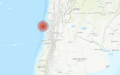 Sismo de magnitud 6,5 sacude norte de Chile