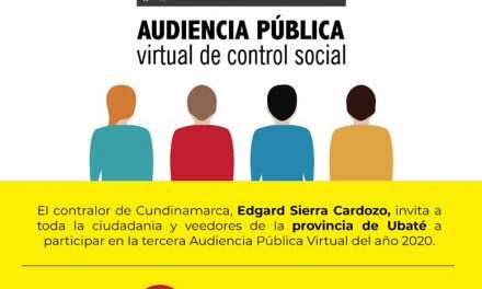 Próxima audiencia pública de control social provincia de UBATé