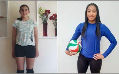 María José Martínez y Vanesa Quiñonez en pre selección Colombia de Voleibol