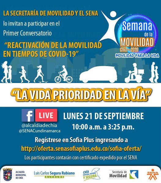 Semana de la movilidad en Chía