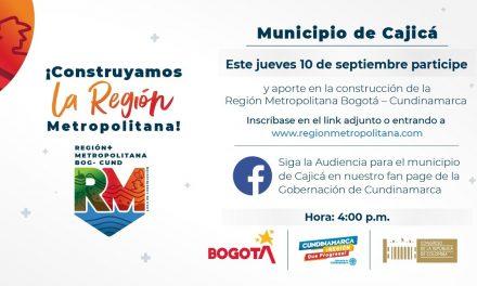 Hoy es la Audiencia Pública de Cajicá sobre la 'Región Metropolitana Bogotá-Cundinamarca'
