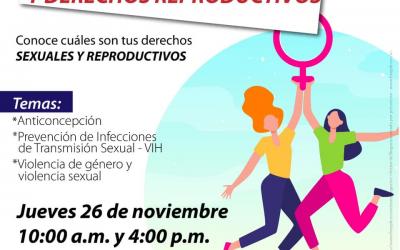 Encuentro virtual sobre derechos sexuales y reproductivos de las mujeres, prográmese