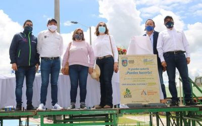 El presidente del Concejo, John Edwin Fuentes Correa y los demás cabildantes acompañaron la entrega e inauguración por parte de la Administración Municipal del Parque Saldarriaga
