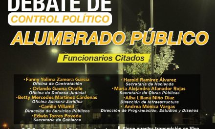 Debate de Control Político Alumbrado Público