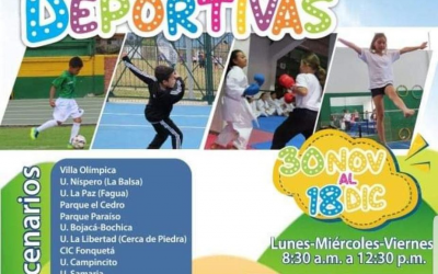 Vacaciones recreativas retoman su actividad en Chía
