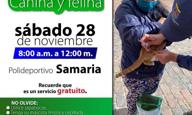 Samaria mañana a vacunar a sus mascotas