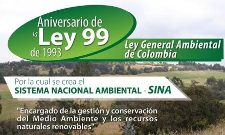 Aniversario de la ley 99 de 1993