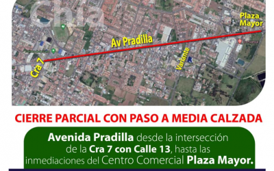 Cerrada la Pradilla en Chía desde esta noche, tenga cuidado