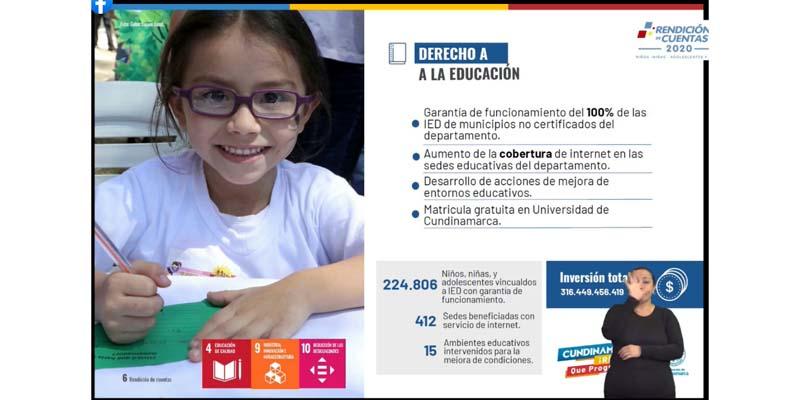 Educación participó en la rendición de cuentas de niños, niñas adolescentes y jóvenes