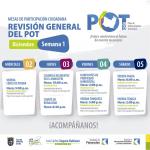 Socialización del Plan de Ordenamiento Territorial de Chía, mesas de trabajo