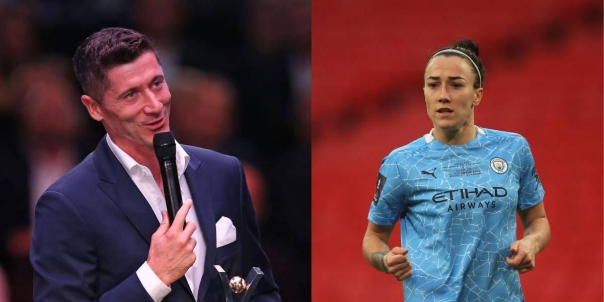 Robert Lewandowski y Lucy Bronze, los mejores futbolistas del año 2020