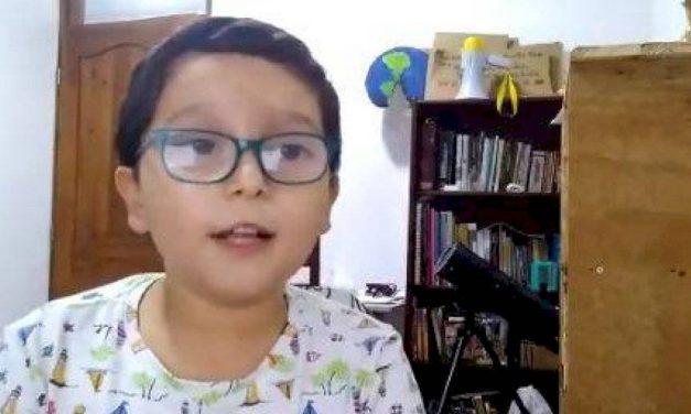 Ofrecen  recompensa por amenaza a niño líder ambientalista