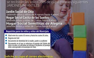 Cupos jardines infantiles Chía