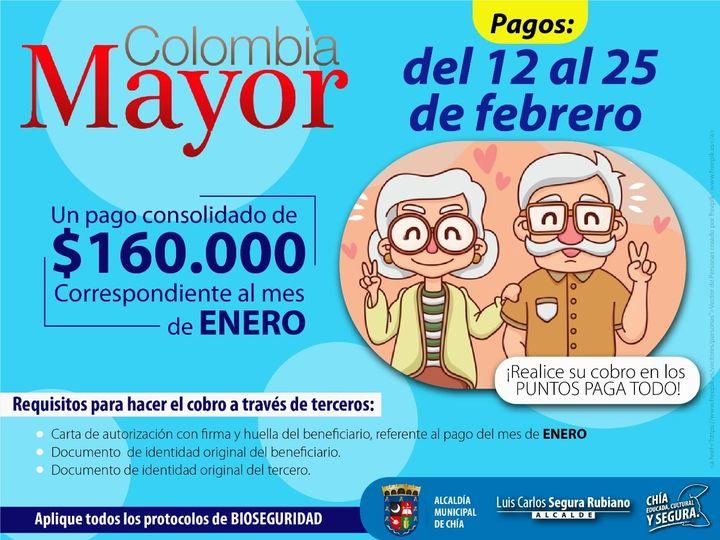 Mañana inician los pagos del programa 'Colombia Mayor' 2021