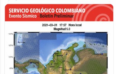 Fuerte sismo sacudió a Medellín en la tarde del lunes 1 de marzo, estos son los detalles
