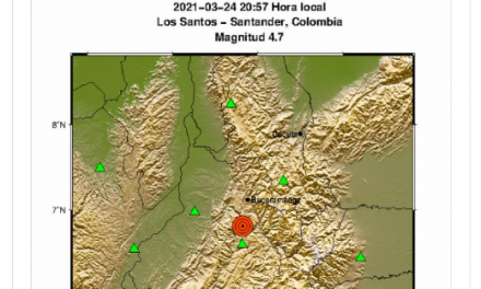 Fuerte sismo sacudió a Bucaramanga en la noche de este miércoles