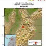 Nuevo temblor sacudió el oriente del país la madrugada del sábado